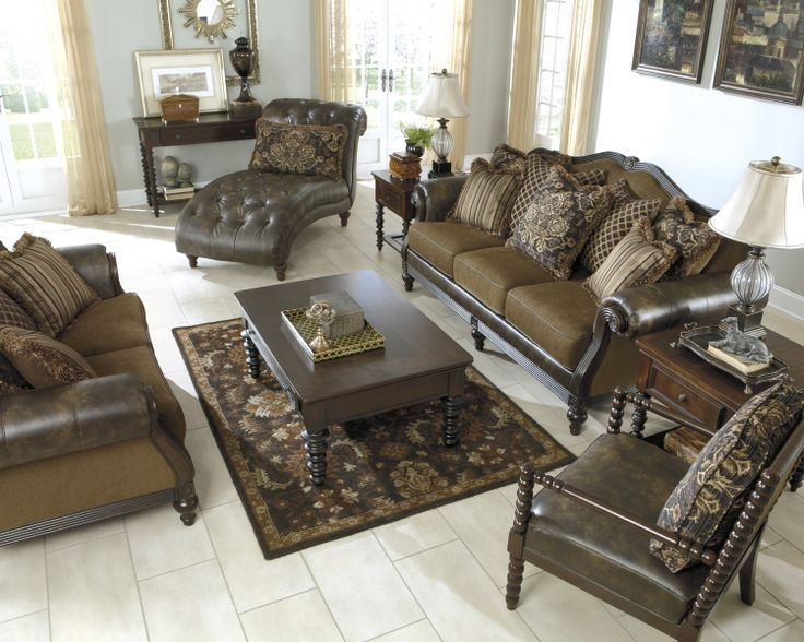 The Glynallen Set Embodies Beauty And Ornate FeaturesThis Collection Captures Old World Style To Enhance Atmosphere Of Any Living Area