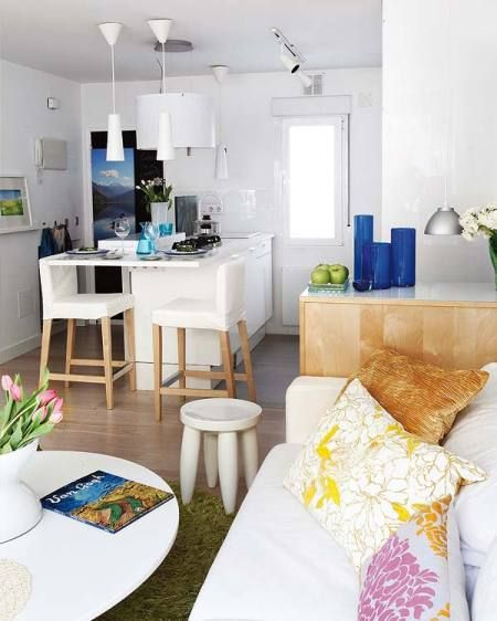 40 M Reformados A Un Espacio Sin Tabiques Apartment DesignApartment IdeasWhite ApartmentSmall