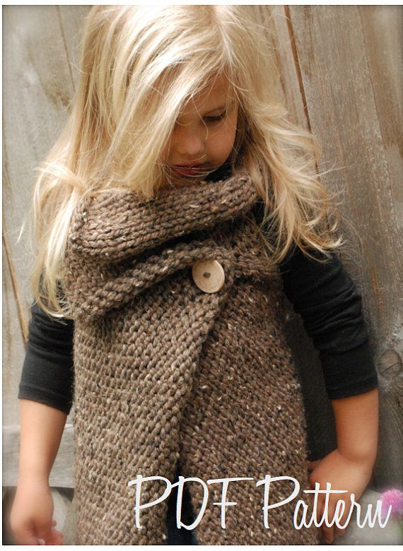 Knitting PATTERNThe Westlynn Wrap Toddler Child by Thevelvetacorn, $5.50 - so cute!