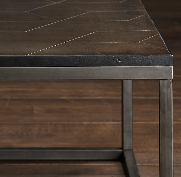 Metal Parquet Coffee Table Restoration Hardware Family Room Pinterest Metals Coffee And Restoration Hardware