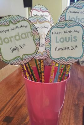MissKinBK: A Fifth Grade Blog: Five for Friday: Classroom Progress and Birthday Pencil Topper Freebie!!