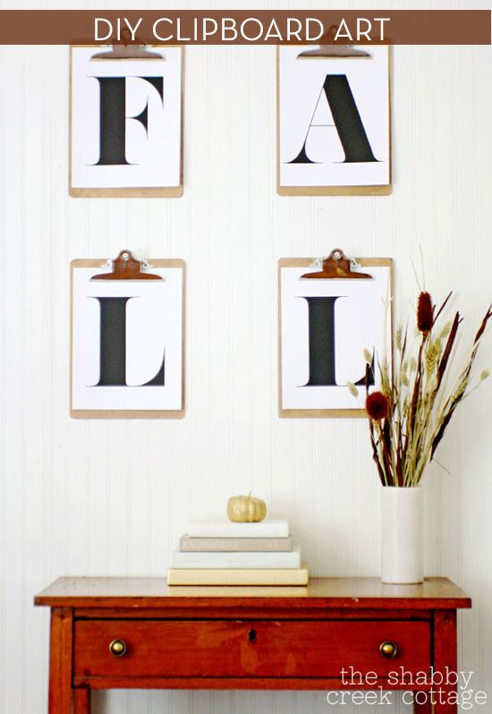 Make It: Vintage Fall Display With Clipboard Art » Curbly | DIY Design Community