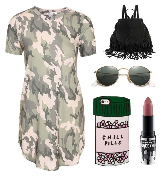 """""""Untitled #37"""" by theasivencrona on Polyvore featuring MAC Cosmetics, ban.do and Ray-Ban"""