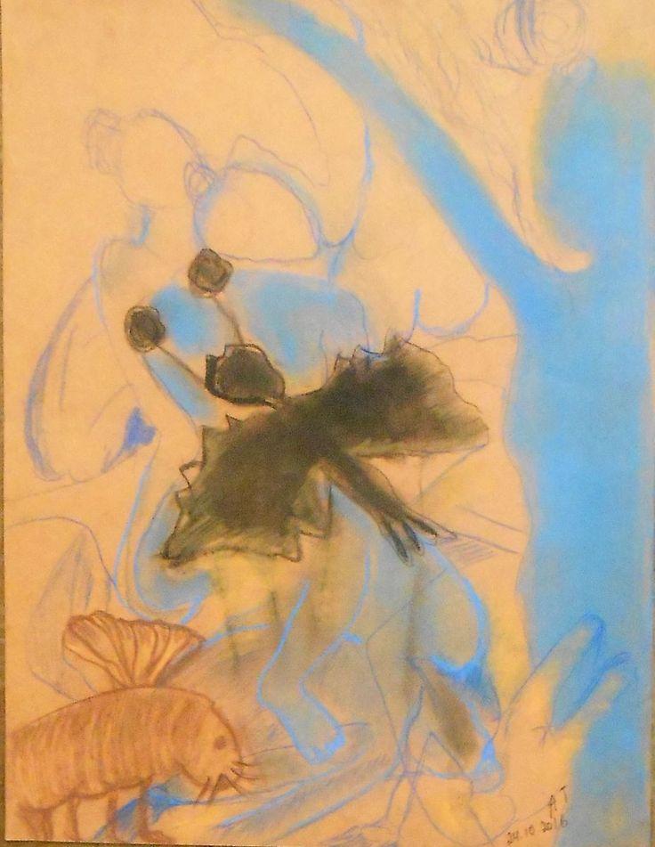Métamorphoses (Dessin),  50x65 cm par Tatiana Anikina