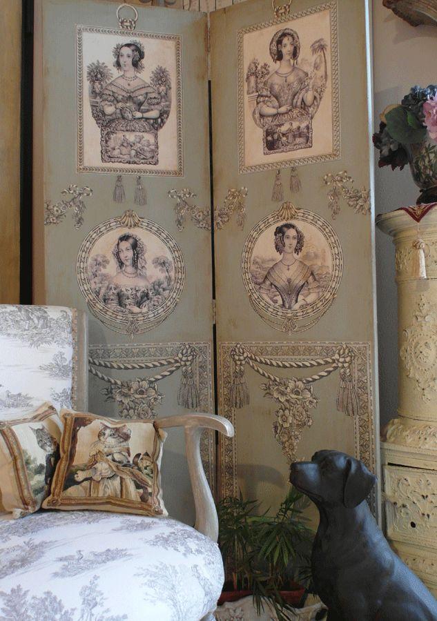separè Print Room  Creazioni Manuela Lombardi www.fogliaorostudioarte.com