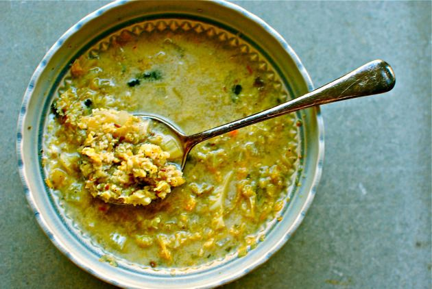 Freekeh and Greens Soup
