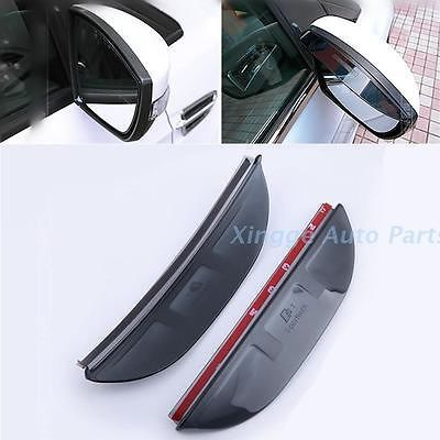 2PCS Rear View Mirror Rain Eyebrow Rain Visor Shield For Ford EcoSport 2013-2015