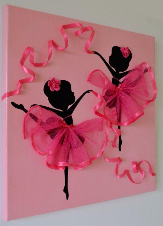 Ballerina Tutu Canvas Wall Art #Tutu #Art #Ballerina