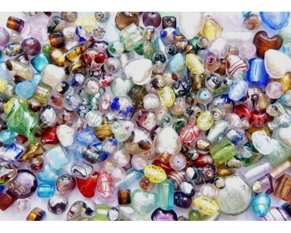 Glass Beads with silver foil - www.margelbeads.com