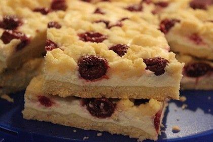 Quark rápido desmoronar bolo com frutas