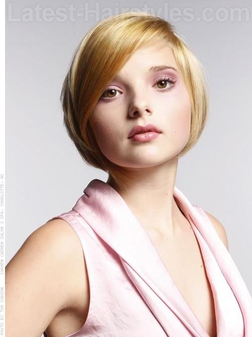 Short soft rounded bob hairstyle for 2012