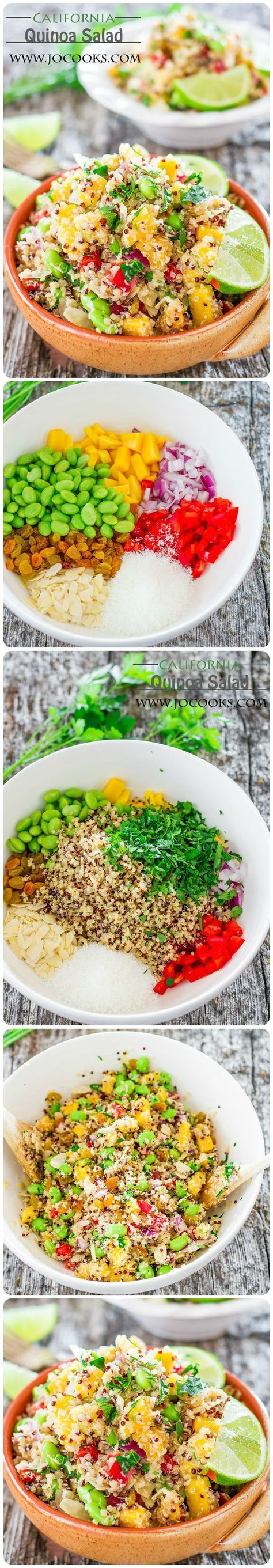 California Quinoa Salad – a Whole Foods Market copycat recipe, full of delicious ingredients and super good for you. Simply Delish!