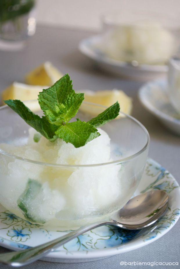 lemon ginger mint granita | granita limone zenzero menta