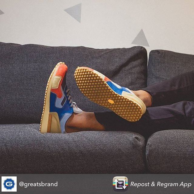 There's always a chance to get comfortable and enjoy your Monday, with a @greatsbrand shoe powered by Vibram. #madeinitaly #borninbrooklyn #greatsbrand #vibram #sneakers