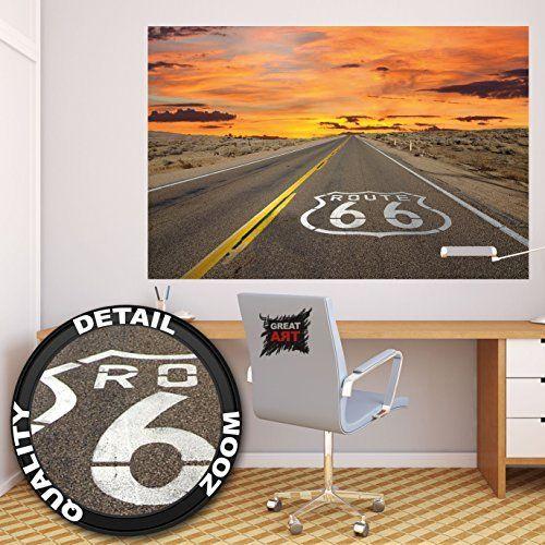 17 meilleures id es propos de d cor route 66 sur for Deco murale route 66