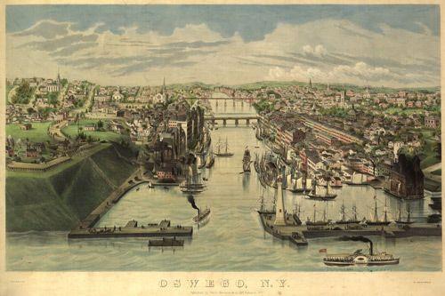 Historic Map of Oswego, NY - 1855