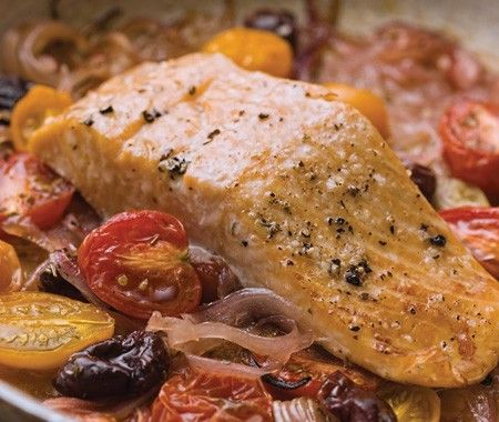Mediterranean Braised Salmon Recipe | from Chef Michael Smith's Kitchen cookbook | House & Home