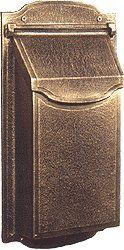 """Special Leaf Contemporary Mailbox (Textured Beige) by Get My Mailbox and MORE!. $139.00. Matching steel magazine scrolls are supplied. Their use is optional.. Stainless Steel Hardware. The mailbox body is approximately 13"""" high, 6 1/2"""" wide, 3 1/2"""" deep.. The """"Footprint"""" (or part that touches the wall) without magazine scrolls is 16 1/2"""" high, 9"""" wide, 3. Cannot Rust - Sand Cast Aluminum. Our elegantly crafted mailbox combines style, function and durability. This..."""