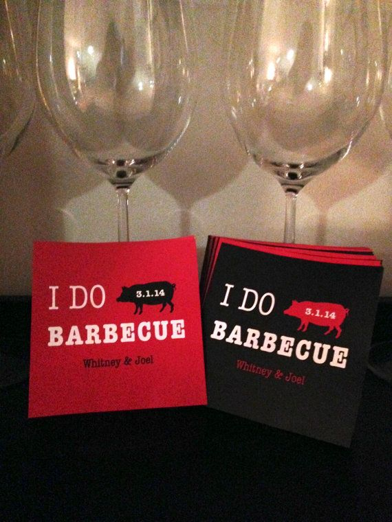 Throwing an engagement party? I Do BBQ Engagement Party Wine Labels by CheersWithLove on Etsy