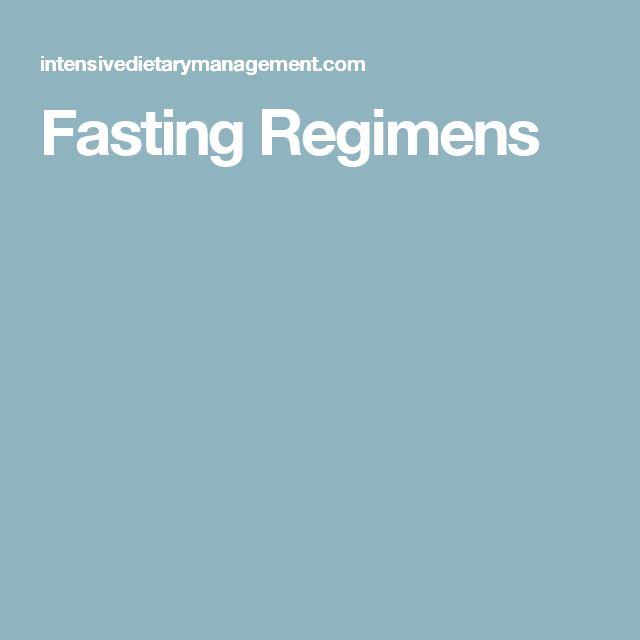 Fasting Regimens