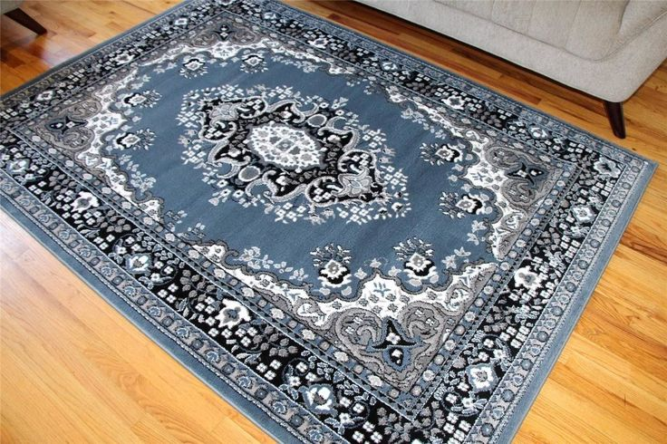Oriental Country Blue Isfahan Area Rug
