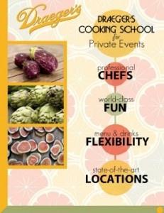 Draegers Cooking school in Menlo Park. Sounds fun