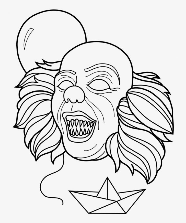 Coloring Pages Ideas 94 Staggering Pennywise Coloring Scary Characters Scary Clowns Coloring Pages