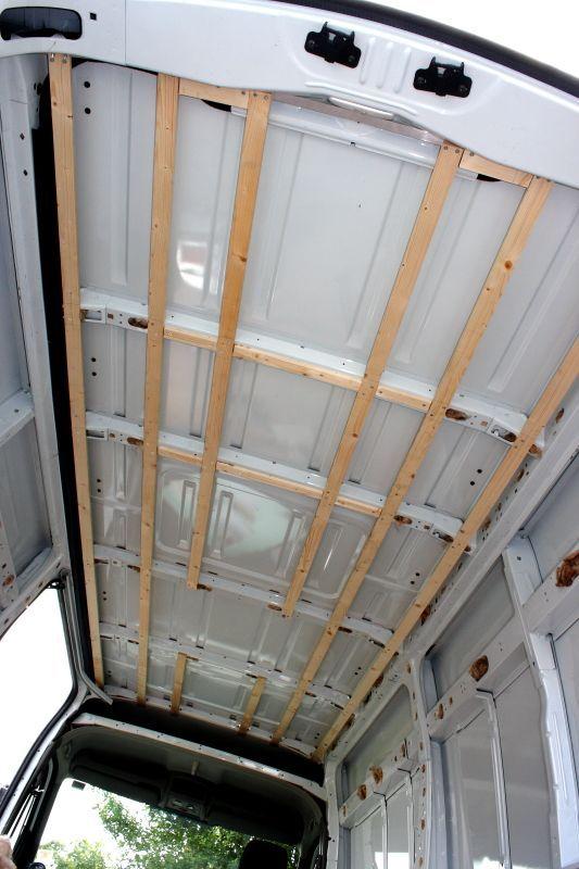 battoning out the roof   Van designs   Camper van conversion
