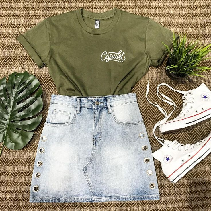 "Vivid Store (@vividstore) on Instagram: ""Cute AND comfy... what more can you want?  @capuletclothing Tee Holey Moley Skirt @converse…"""