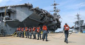 German, Norwegian frigates arrive in Norfolk to join Harry S. Truman carrier strike group