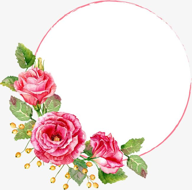 Red Flower Circle, Flower Clipart, Circle Clipart, Gules ...