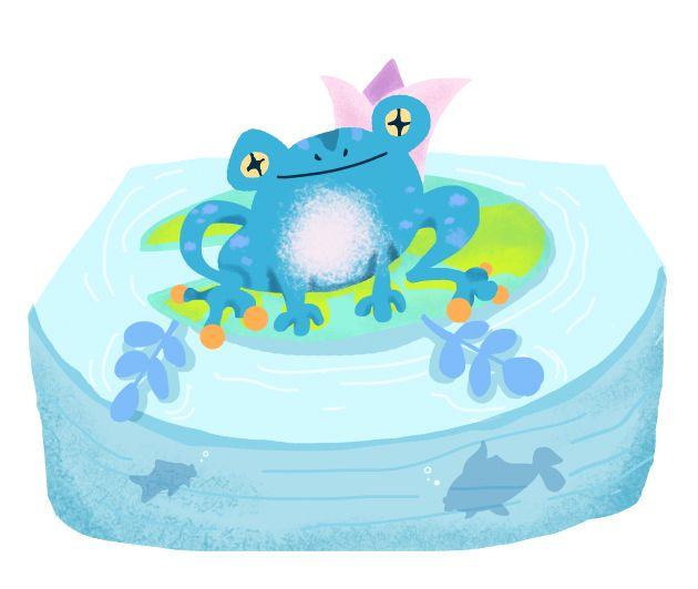 Frog illustration by Abigail Feniza