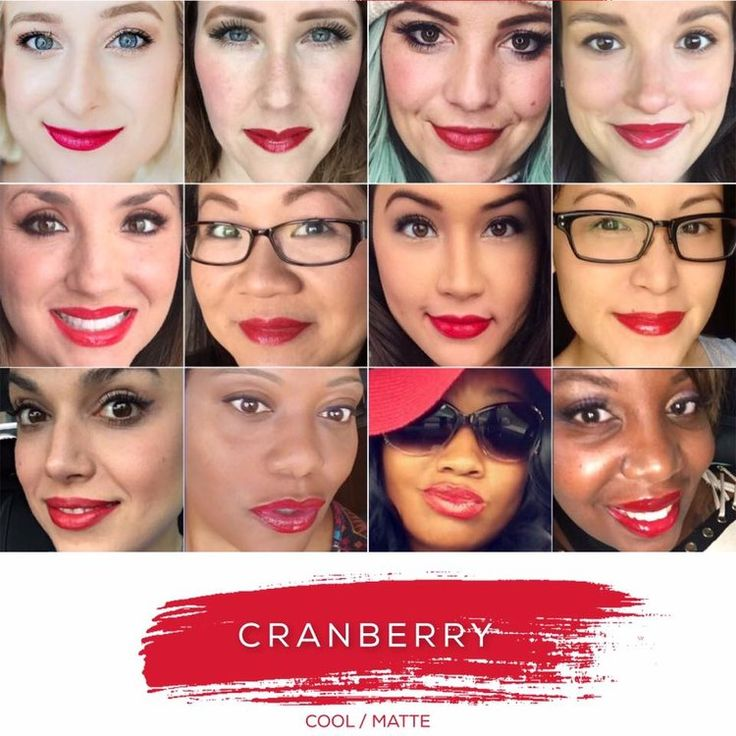 Cranberry LipSense lasts up to 18 hours, it is waterproof, kiss proof, smear, bleed proof, and transfer proof! It's vegan, kosher, wax free, lead free, contains no animal bi-products, cruelty- free, and made in USA! Comes in 70+ colors and 11 glosses!! The last Lipstick you'll ever need! www.Happily.me