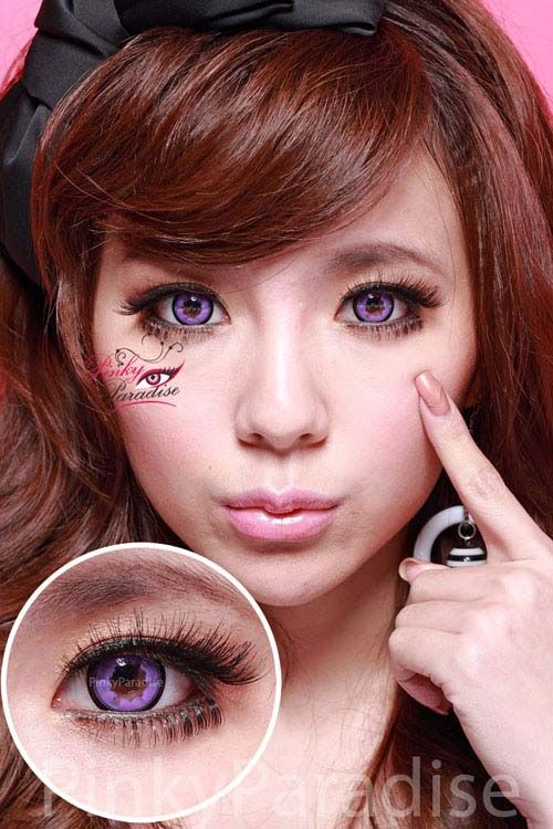 prettiest color contacts  via pinky paradise