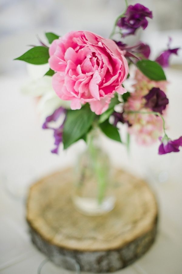 Simple: Rustic Chic Wedding Floral Centerpieces
