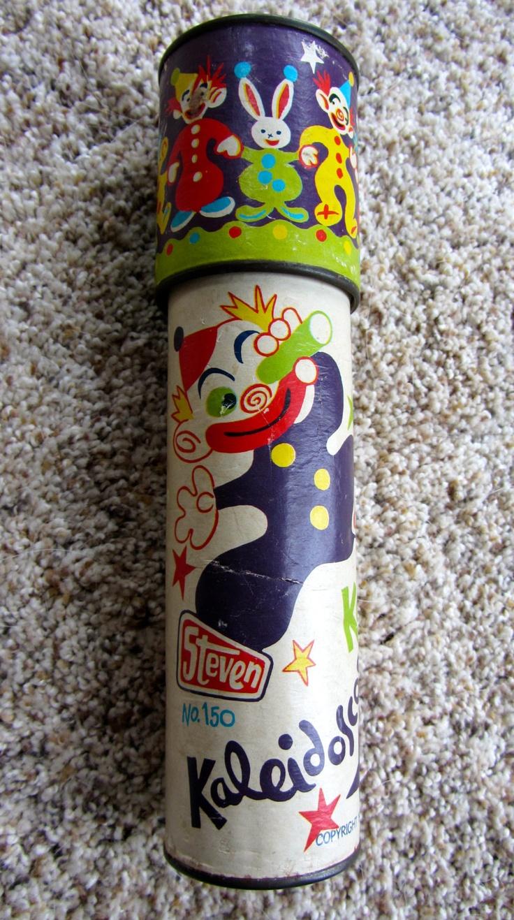 KALEIDOSCOPE 1970s 1980 Steven Toy Co. No. 150 Vintage Retro Clowns. $12.99, via Etsy.