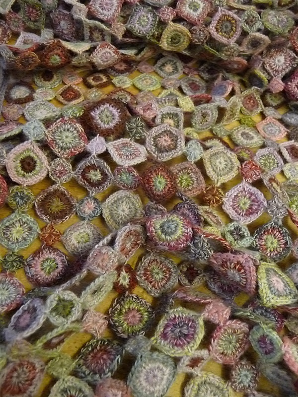 Crochet Scarf - Sophie Digard - She creates her rich colour palette by working with multiple strands of fine yarn.