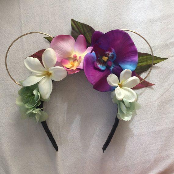 Polynesian Princess Hawaiian Floral Wire Ears by StarshineSupplyCo