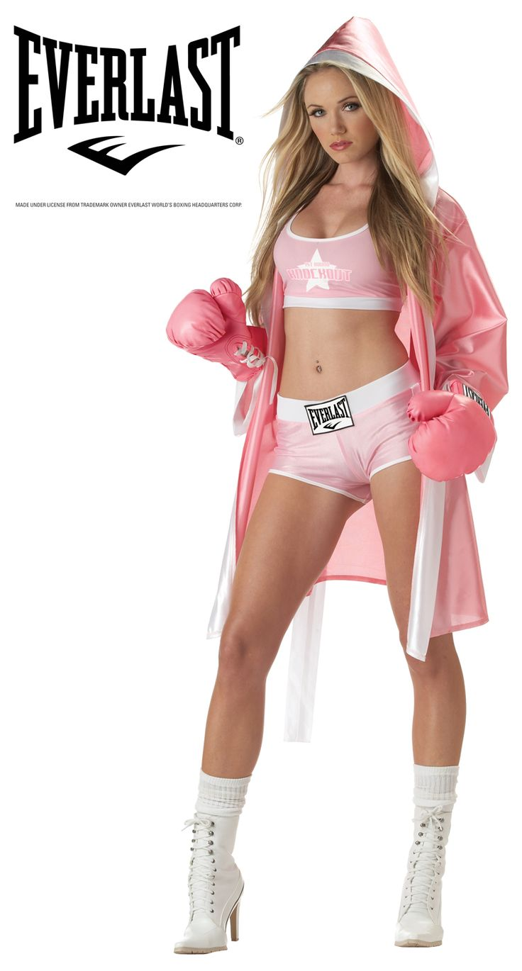 Sexy Everlast Boxer Chick Adult Costumes Pink C00721 | eBay
