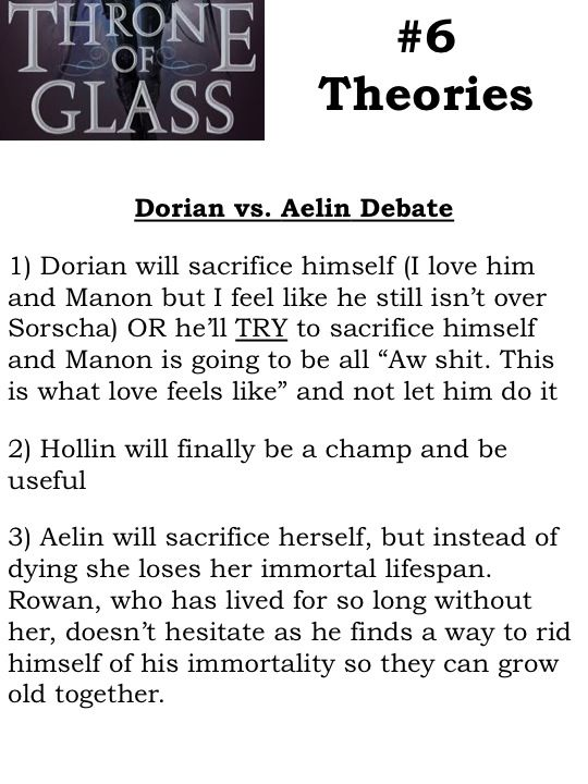 TOG Theories! Throne of Glass, EoS (Empire of Storms), Aelin, Rowan, Dorian, Manon, tog6