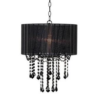 Covered black chandelier