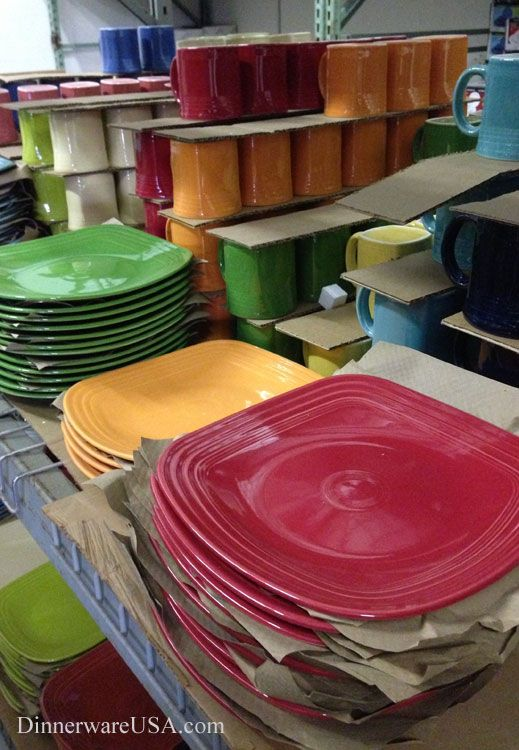 Fiesta square plates and mugs ready to be shipped out for fall. / & 146 best Fiesta® / Homer Laughlin China: Square Fiesta® images on ...