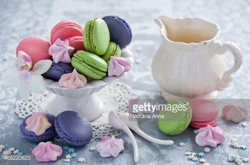 Foto stock : Macarons