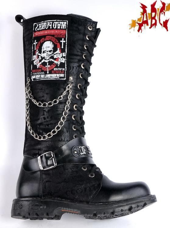 Rocker Fashion For Men | ABC ROCK BAND super cool BOOTS for men punk shoes gothic shoes /style ...