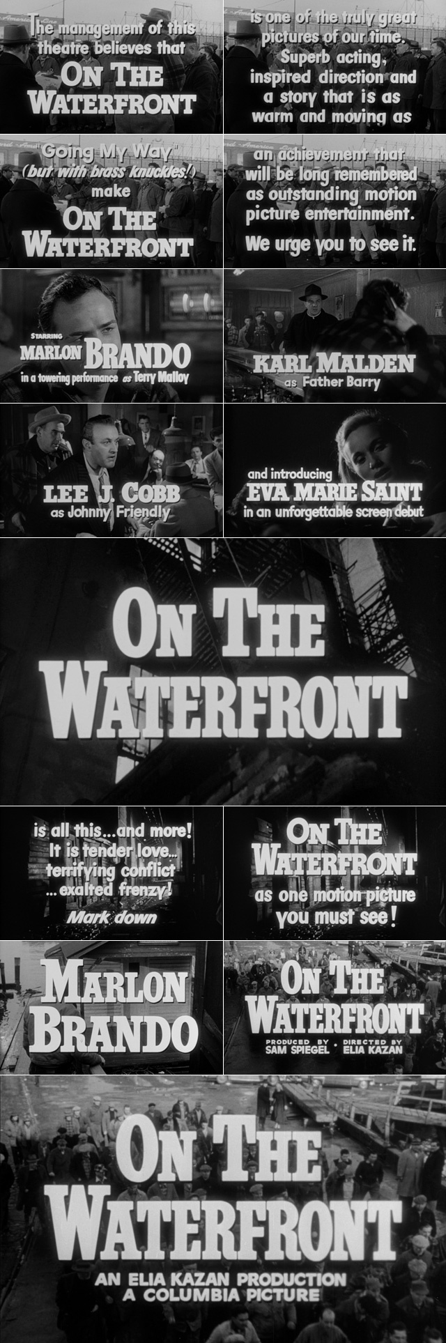 an assessment of the movie on the waterfront by elia kazan Elia kazan essay examples 12 total  an assessment of the movie, on the waterfront by elia  the portrayal of real human conditions in elia kazan directed movie.