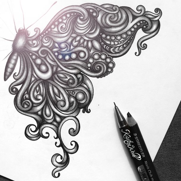 491 best images about art on pinterest aesthetic art for Cool drawings of butterflies