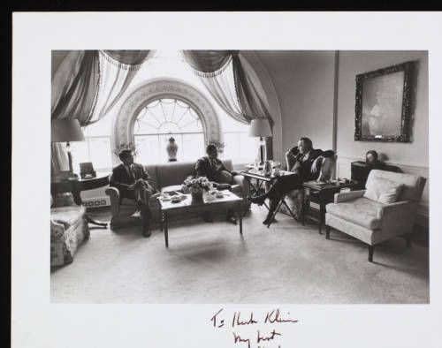 Herbert G. Klein with Lyndon Johnson and Tom Johnson :: Herbert G. Klein with Lyndon Johnson and Tom Johnson :: Herbert G. Klein Papers, 1940-2000. http://digitallibrary.usc.edu/cdm/ref/collection/p15799coll169/id/62