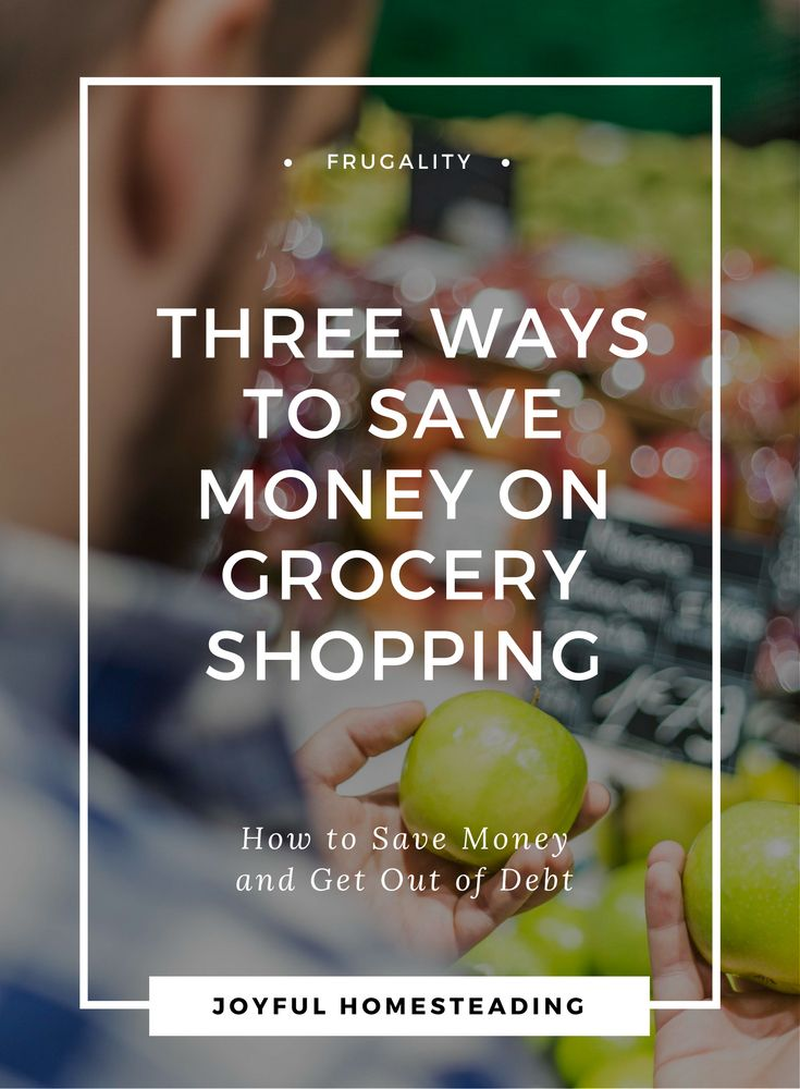 Save money on grocery shopping, and you can get out of debt, giving you the freedom to pursue your dream of self reliance.