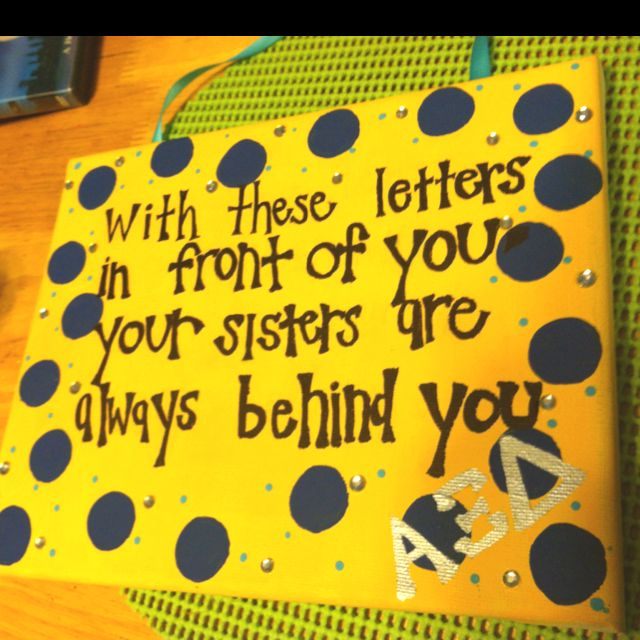 Big/Little Craft! just replace the alpha xi delta with Theta Phi Alpha :)