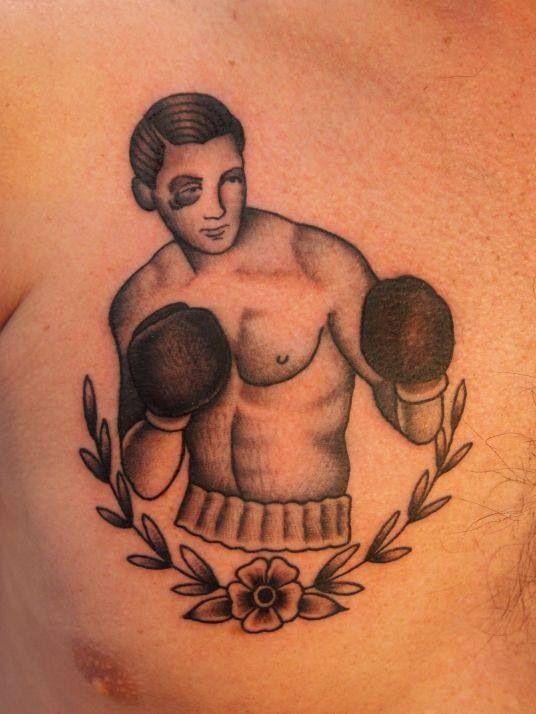 Boxer, traditional style tattoo www.ihatemarkus.com